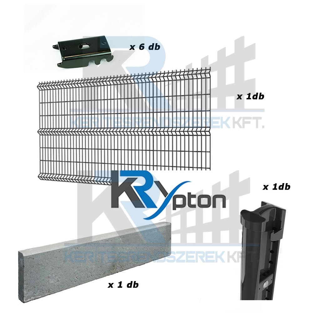 3D DESIGN szett 1,8m magas antracit kerítés